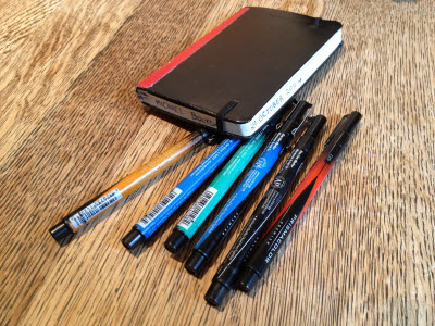 Moleskine and Pens